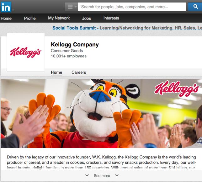 LinkedIn Kellogg's