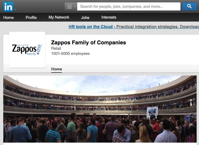 LinkedIn Zappos