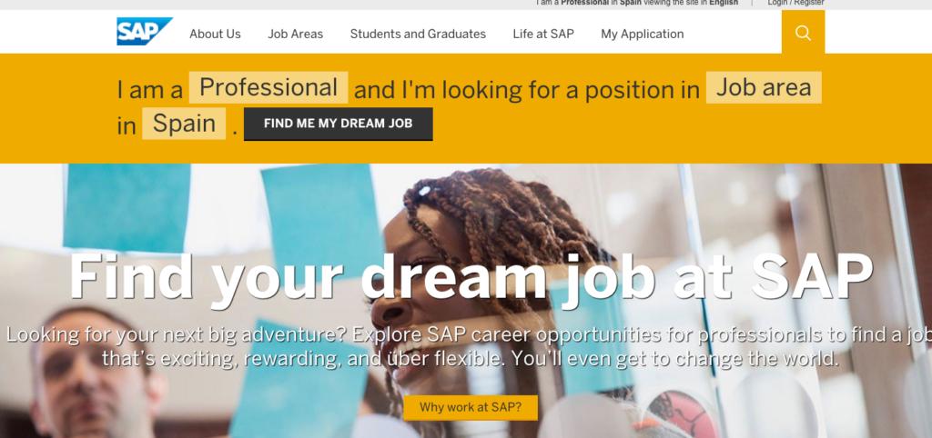 SAP Carreer Web Site