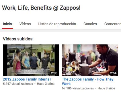 YouTube Zappos