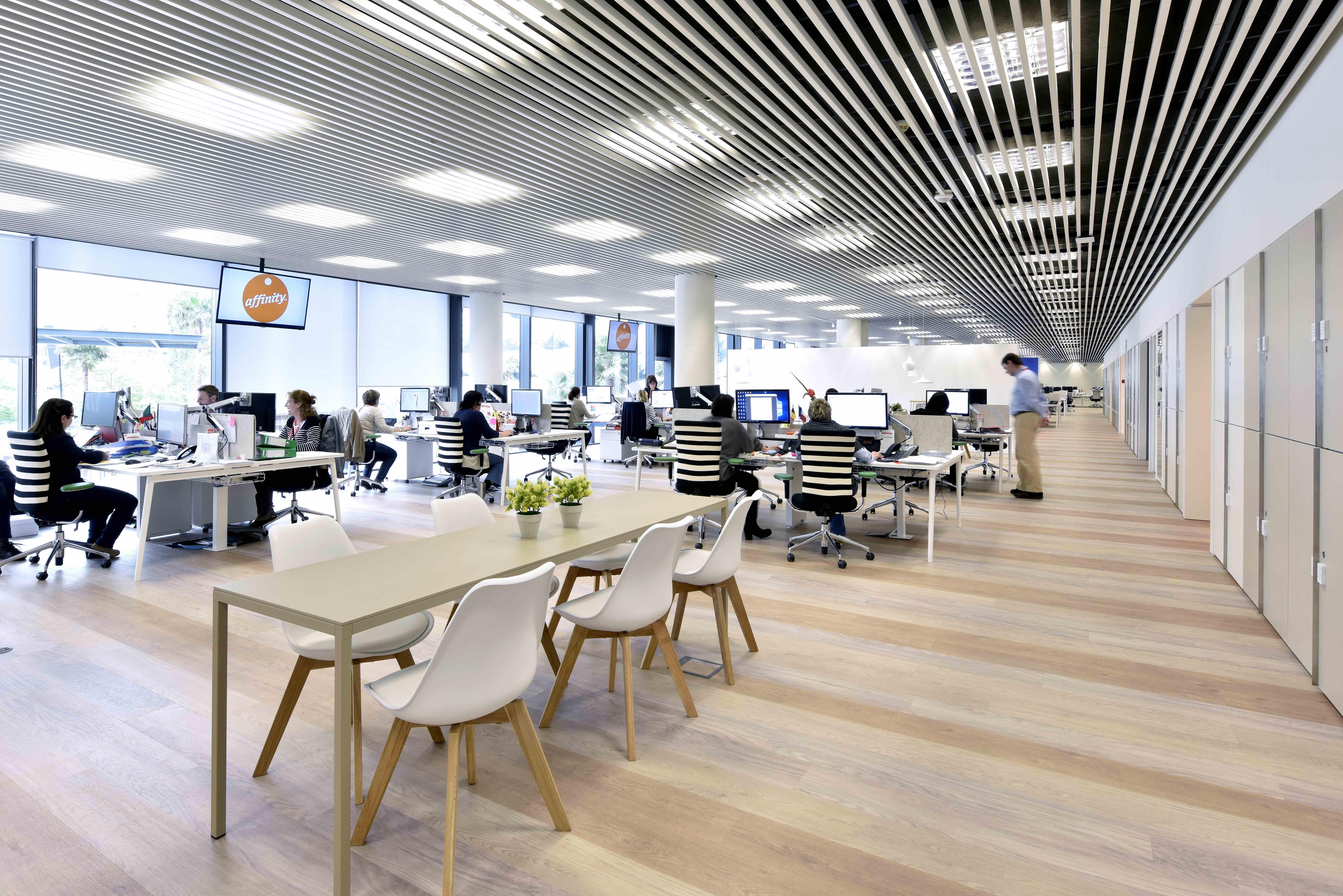 Innovación y colaboración oficinas affinity